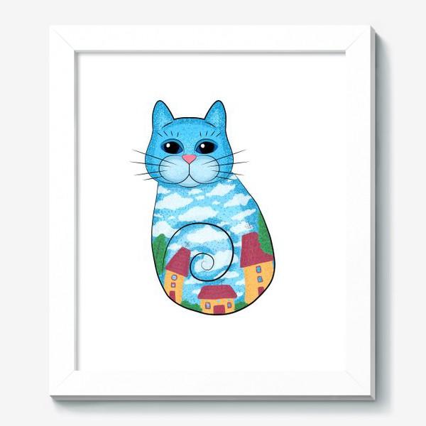 Картина «Кот с городским пейзажем»