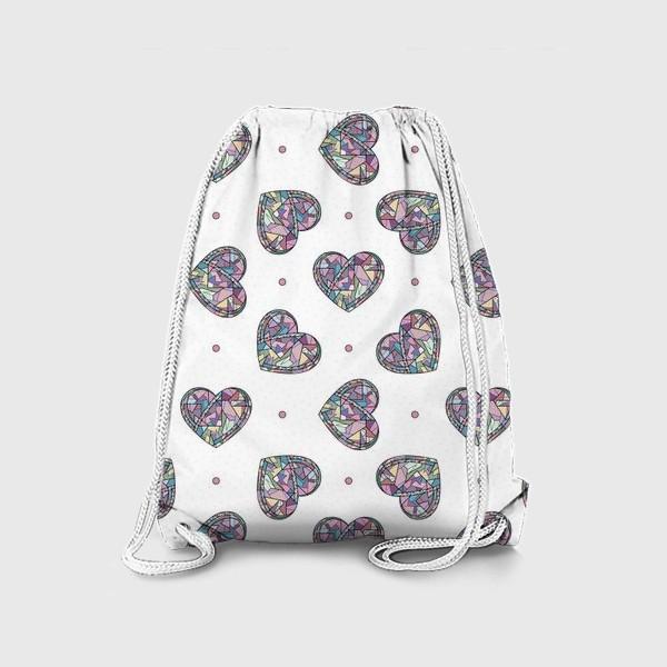 Рюкзак «Сердечки геометрические»