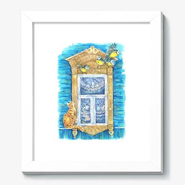 Картина «Окошко и кошки»