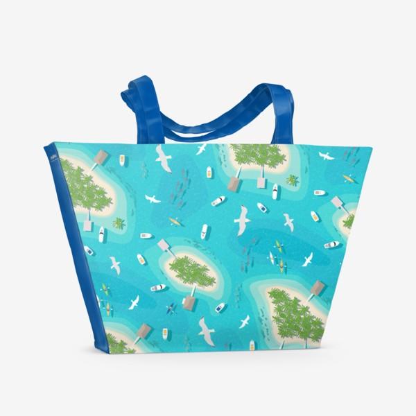 Пляжная сумка «Тропические острова»
