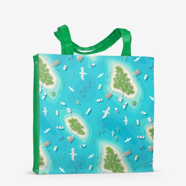 Сумка-шоппер «Тропические острова»