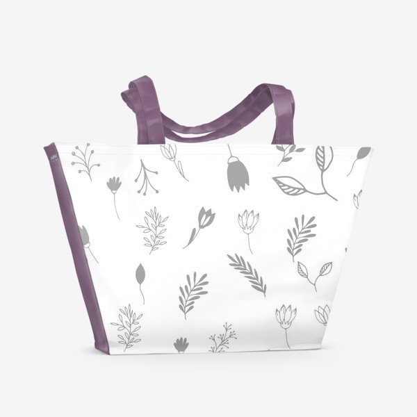 Пляжная сумка «Растения»