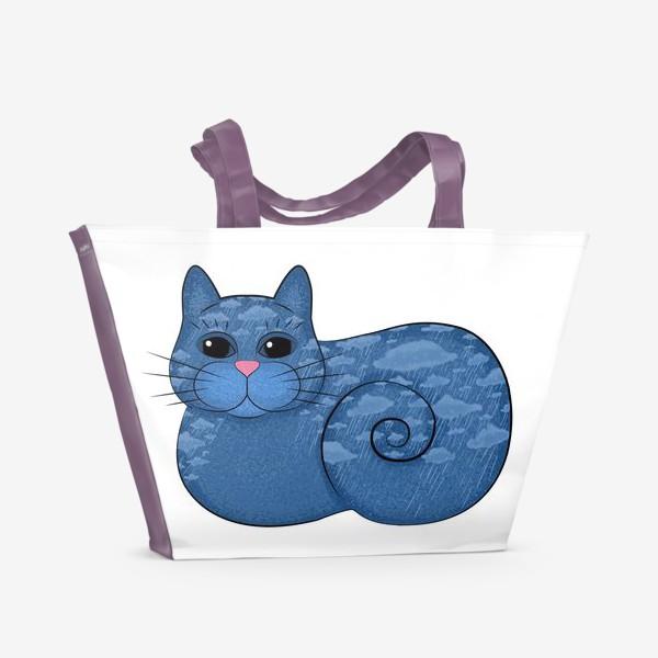 Пляжная сумка «Дождливый кот»