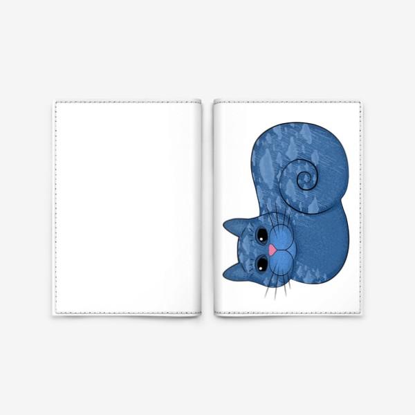 Обложка для паспорта «Дождливый кот»