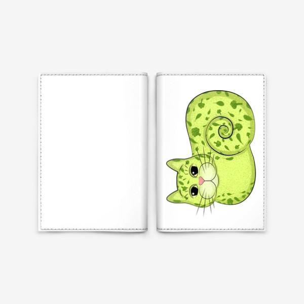 Обложка для паспорта «Кот веган»