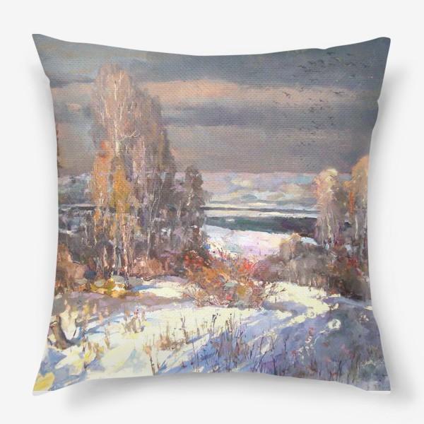 Подушка «Зима будет снежной»