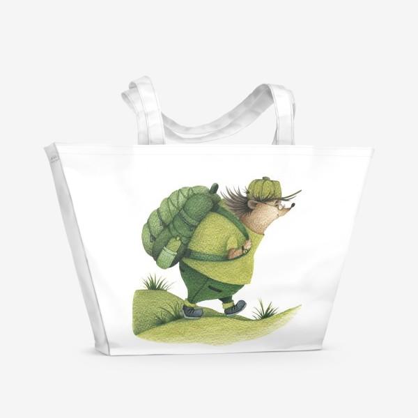 Пляжная сумка «Ежик-путешественник »