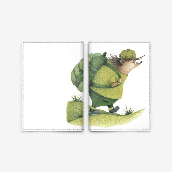 Обложка для паспорта «Ежик-путешественник »