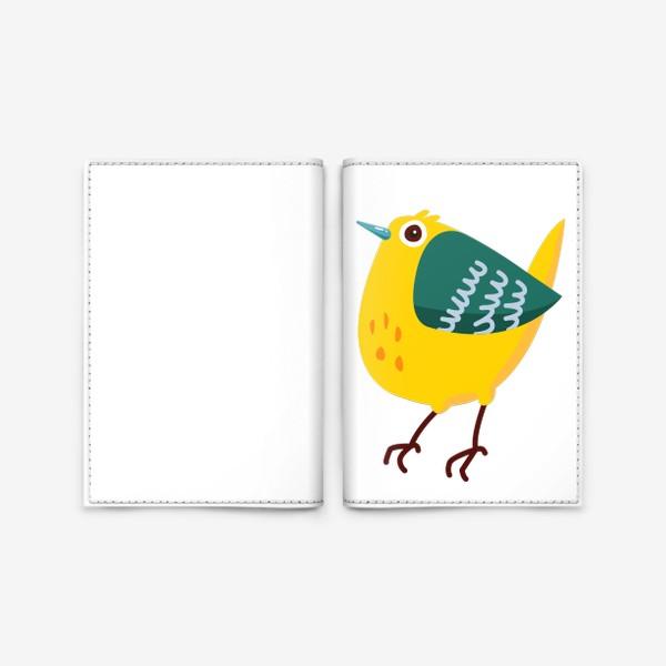 Обложка для паспорта «Cute cartoon Bird»