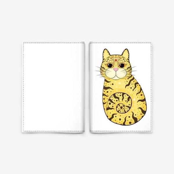 Обложка для паспорта «Кот в узорах. Индия»