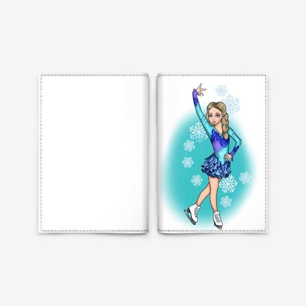 Обложка для паспорта «фигурное катание. на коньках»