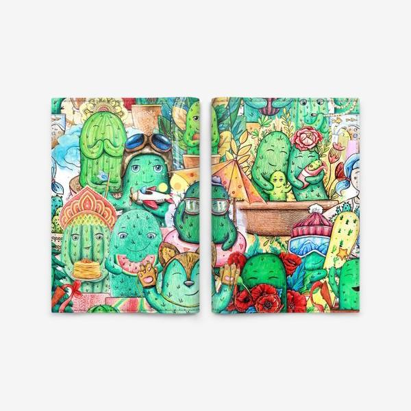 Обложка для паспорта «Кактусяндрия»