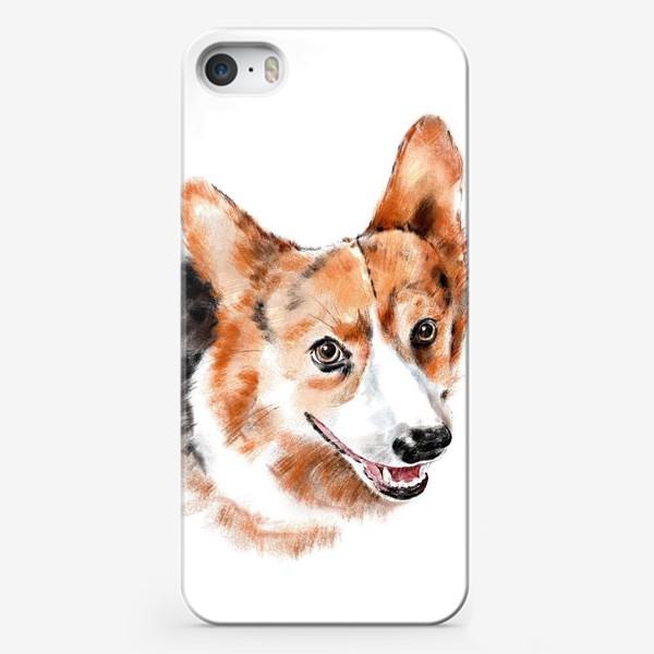 Чехол iPhone «Портрет корги»