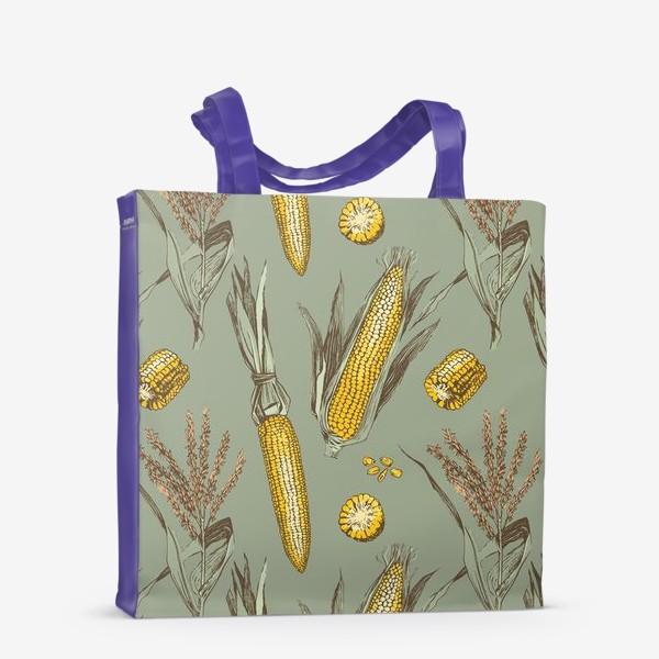 Сумка-шоппер «Узор с кукурузой»