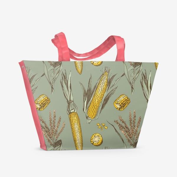 Пляжная сумка «Узор с кукурузой»