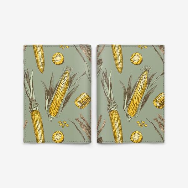 Обложка для паспорта «Узор с кукурузой»