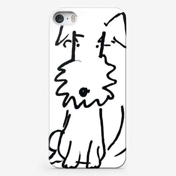 Чехол iPhone «Собачка белая»