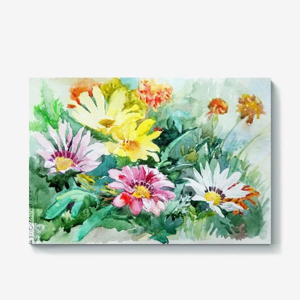 Холст «Цветение радости, цветы, подарок женщине»