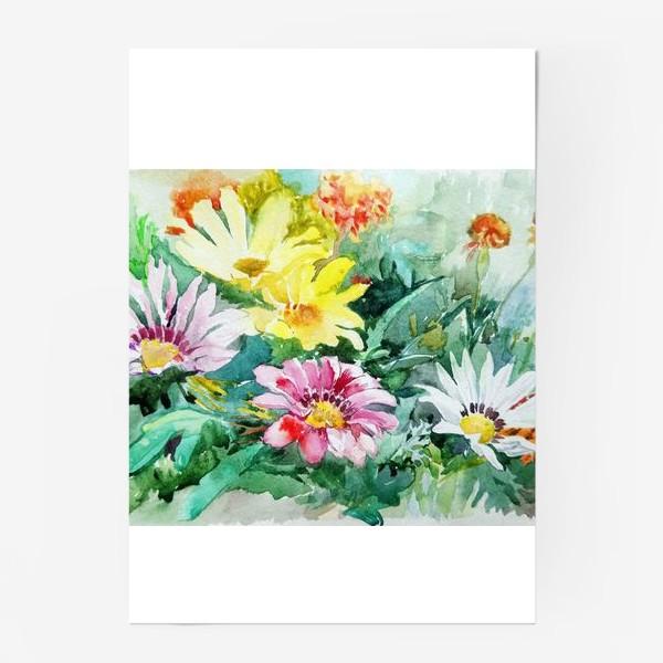 Постер «Цветение радости, цветы, подарок женщине»