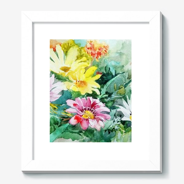 Картина «Цветение радости, цветы, подарок женщине»