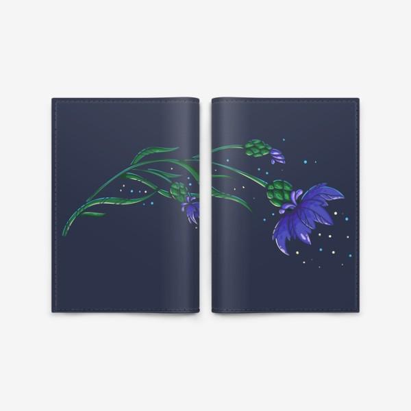 Обложка для паспорта «Волшебный василек»