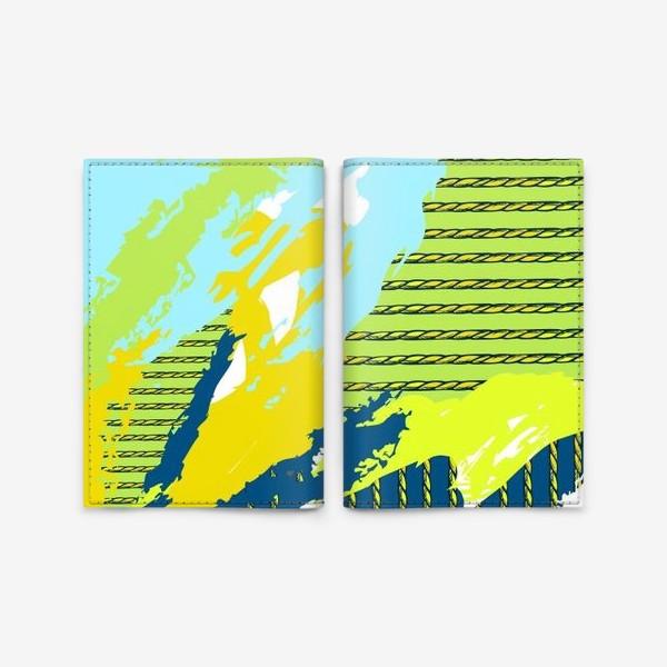 Обложка для паспорта «Абстракция путешествия»