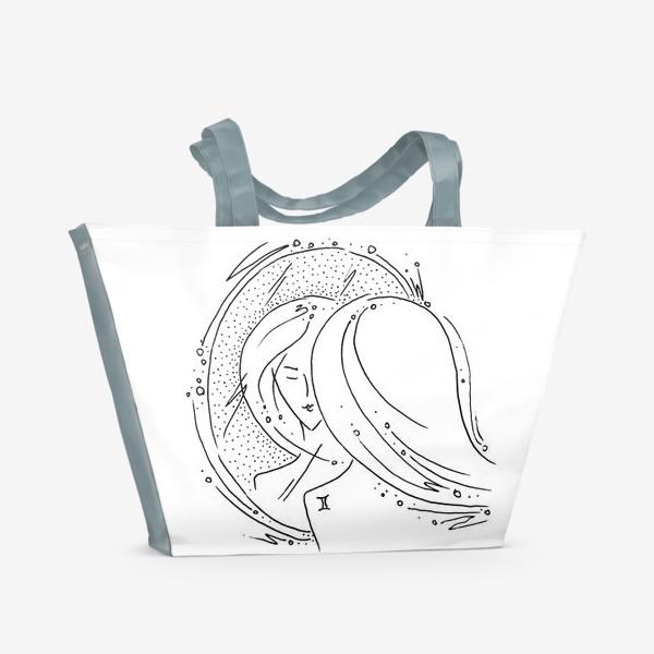 Пляжная сумка «Близнецы зодиак»