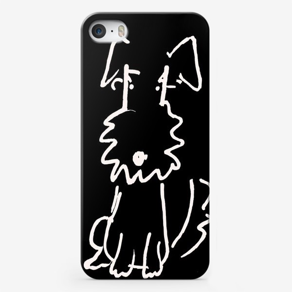 Чехол iPhone «Собачка чёрная»