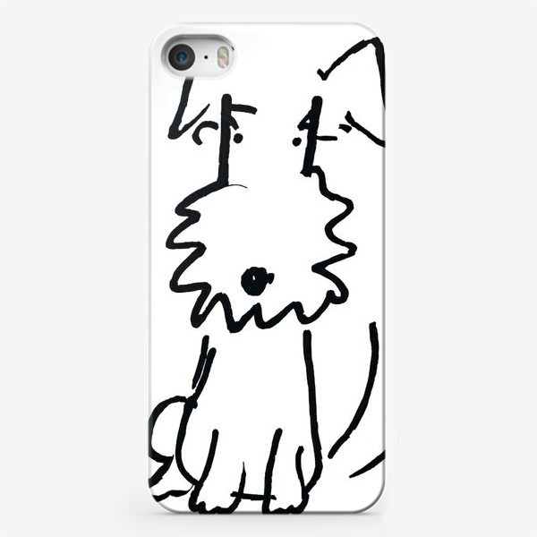Чехол iPhone «Белая собачка»