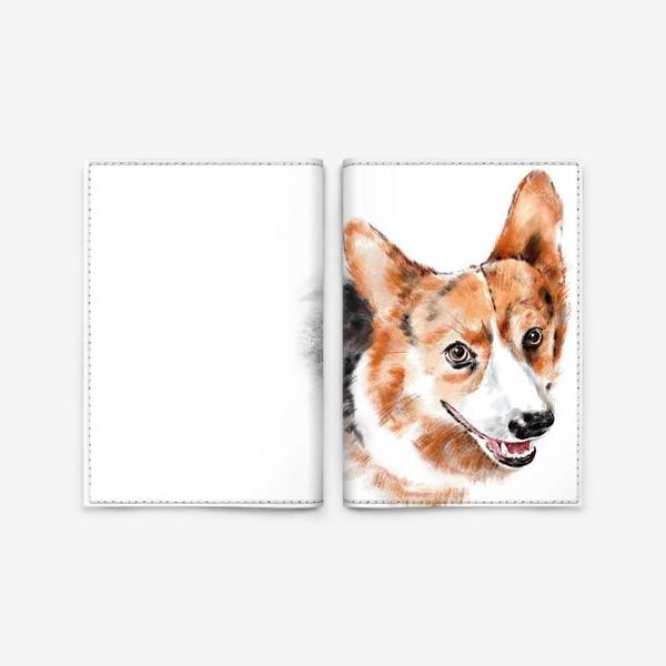 Обложка для паспорта «Портрет корги»
