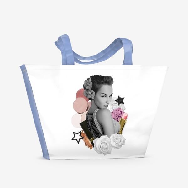 Пляжная сумка «Коллаж Мейкап»