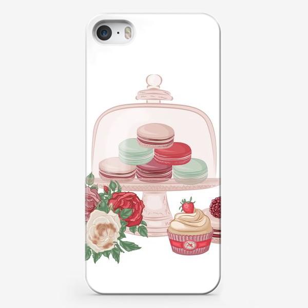 Чехол iPhone «Сладкий сет, макарон»