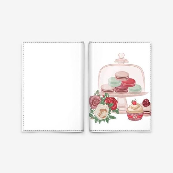 Обложка для паспорта «Сладкий сет, макарон»