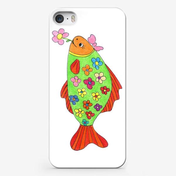 Чехол iPhone «Рыбка в цветочек»
