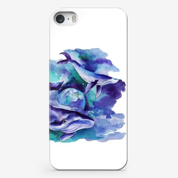 Чехол iPhone «Космические киты»