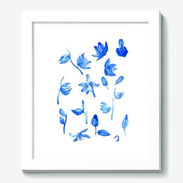 Картина «Паттерн Синие Цветы»