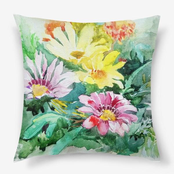 Подушка «Цветение радости, цветы, подарок женщине»