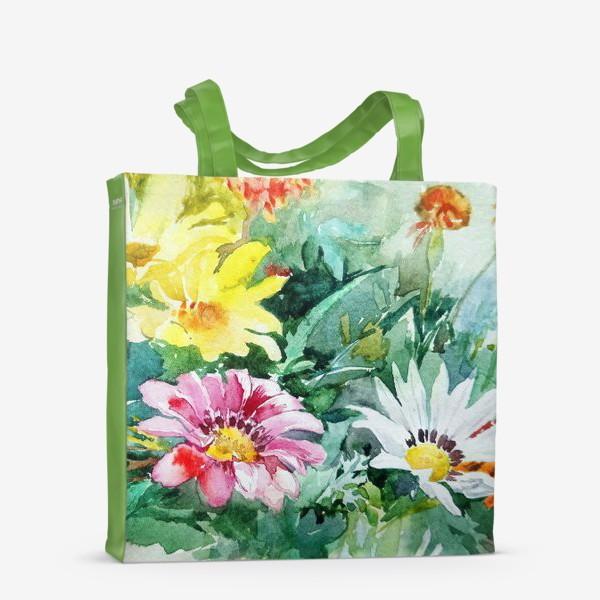 Сумка-шоппер «Цветение радости, цветы, подарок женщине»