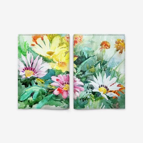Обложка для паспорта «Цветение радости, цветы, подарок женщине»
