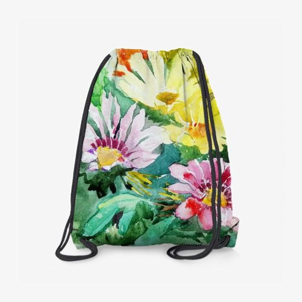 Рюкзак «Цветение радости, цветы, подарок женщине»