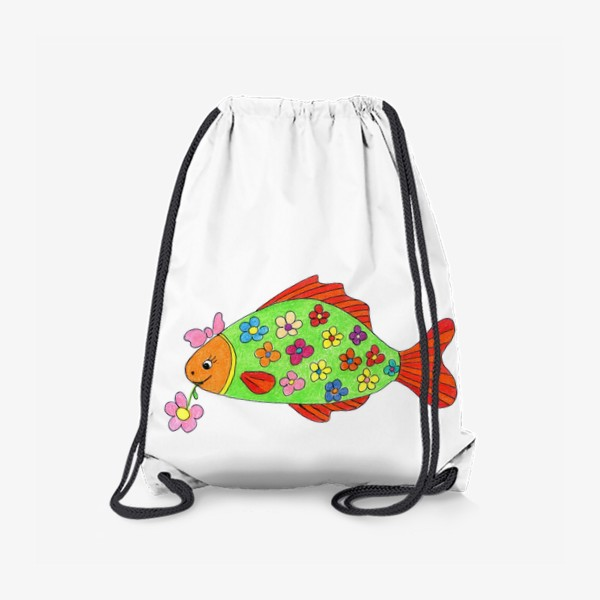 Рюкзак «Рыбка в цветочек»
