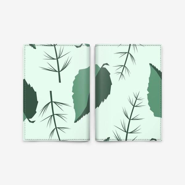 Обложка для паспорта «Двухцветные листья»