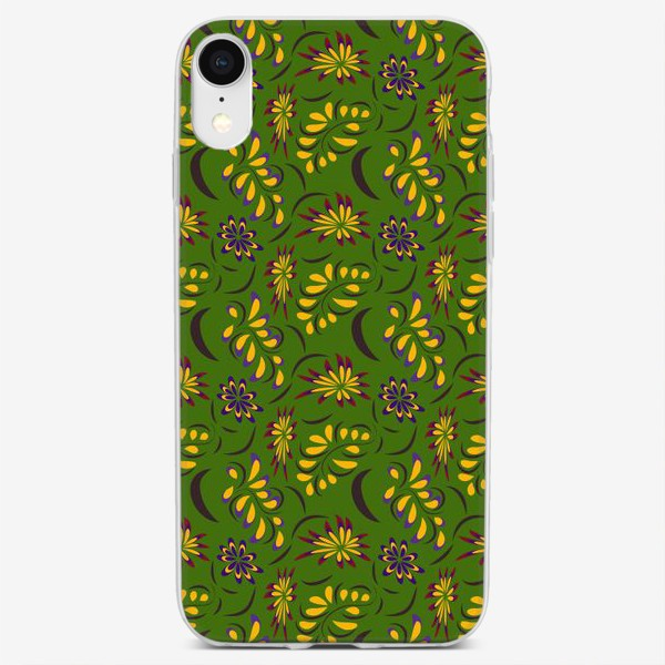 Чехол iPhone «abstract seamless floral pattern exotic shapes»
