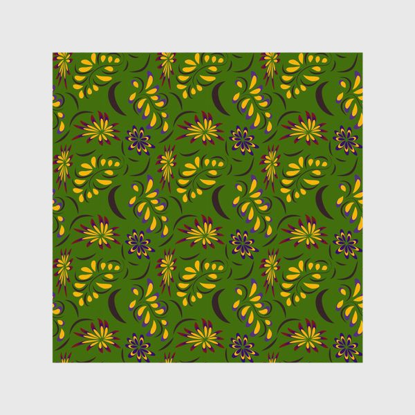 Шторы «abstract seamless floral pattern exotic shapes»