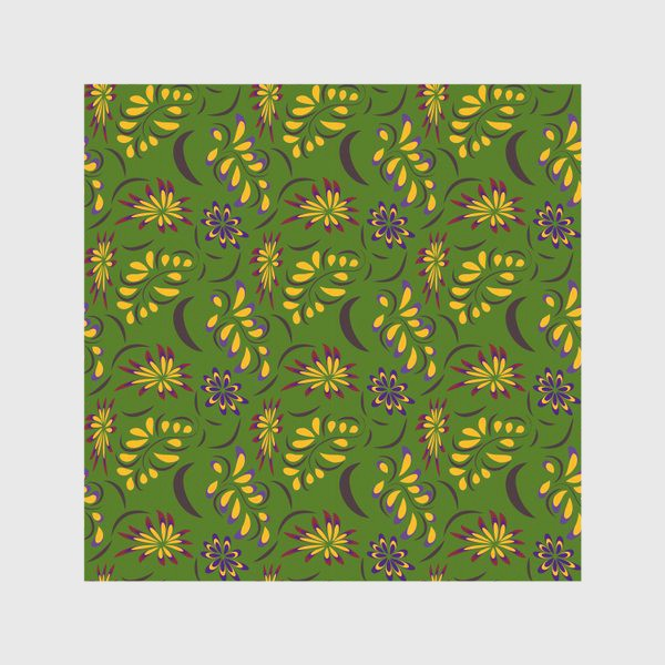 Скатерть «abstract seamless floral pattern exotic shapes»