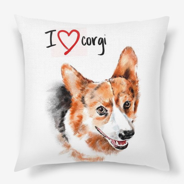 Подушка «Я люблю корги. I love corgi»