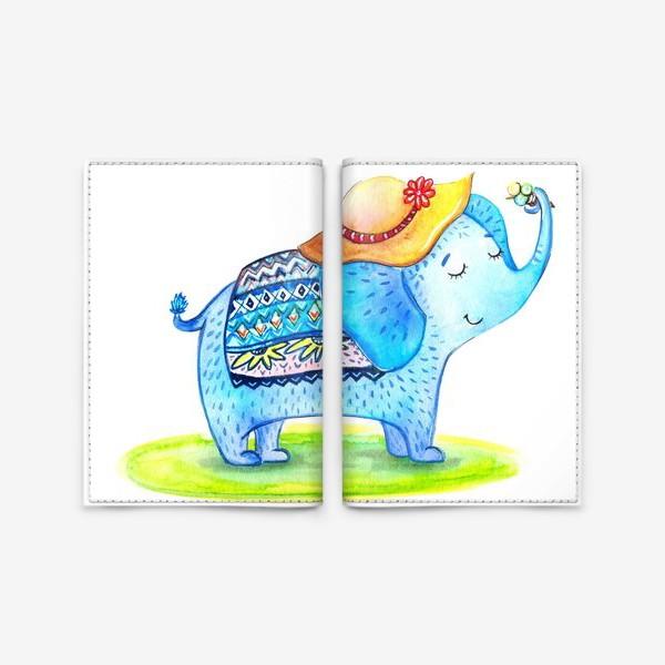 Обложка для паспорта «Слоник в шляпе»
