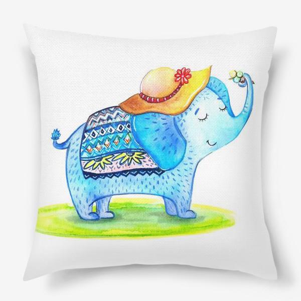 Подушка «Слоник в шляпе»