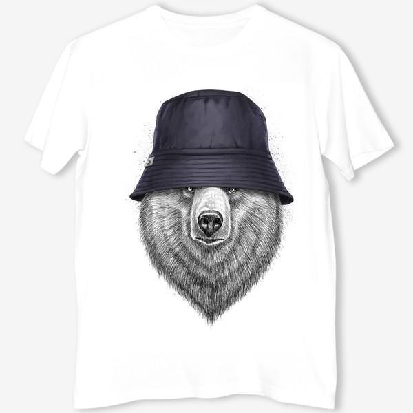 Футболка «Медведь в панаме»