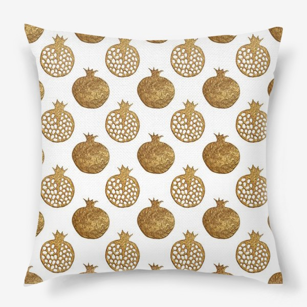 Подушка «Гранаты золотые»